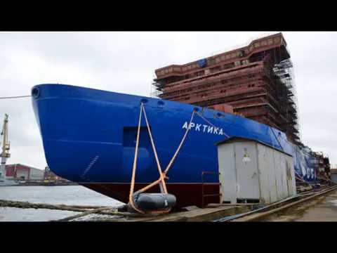 Construction of the world's largest nuclear icebreaker Arctic project 22220 in Russia
