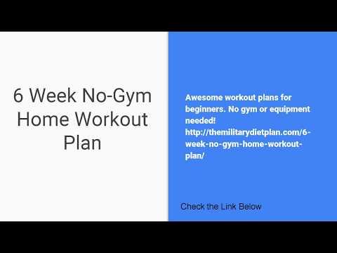 6 Week No-Gym Home Workout Plan - YT