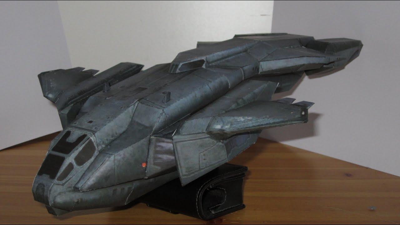 Papercraft Pelican dropship papercraft | Halo: Combat Evolved