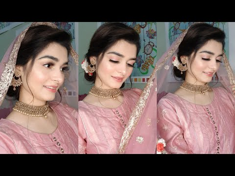engagement-look-|-makeup-&-hairstyle-|-easy-bun-tutorial-|-one-brand-makeup