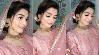 Engagement look | Makeup & Hairstyle | Easy bun tutorial | One brand makeup