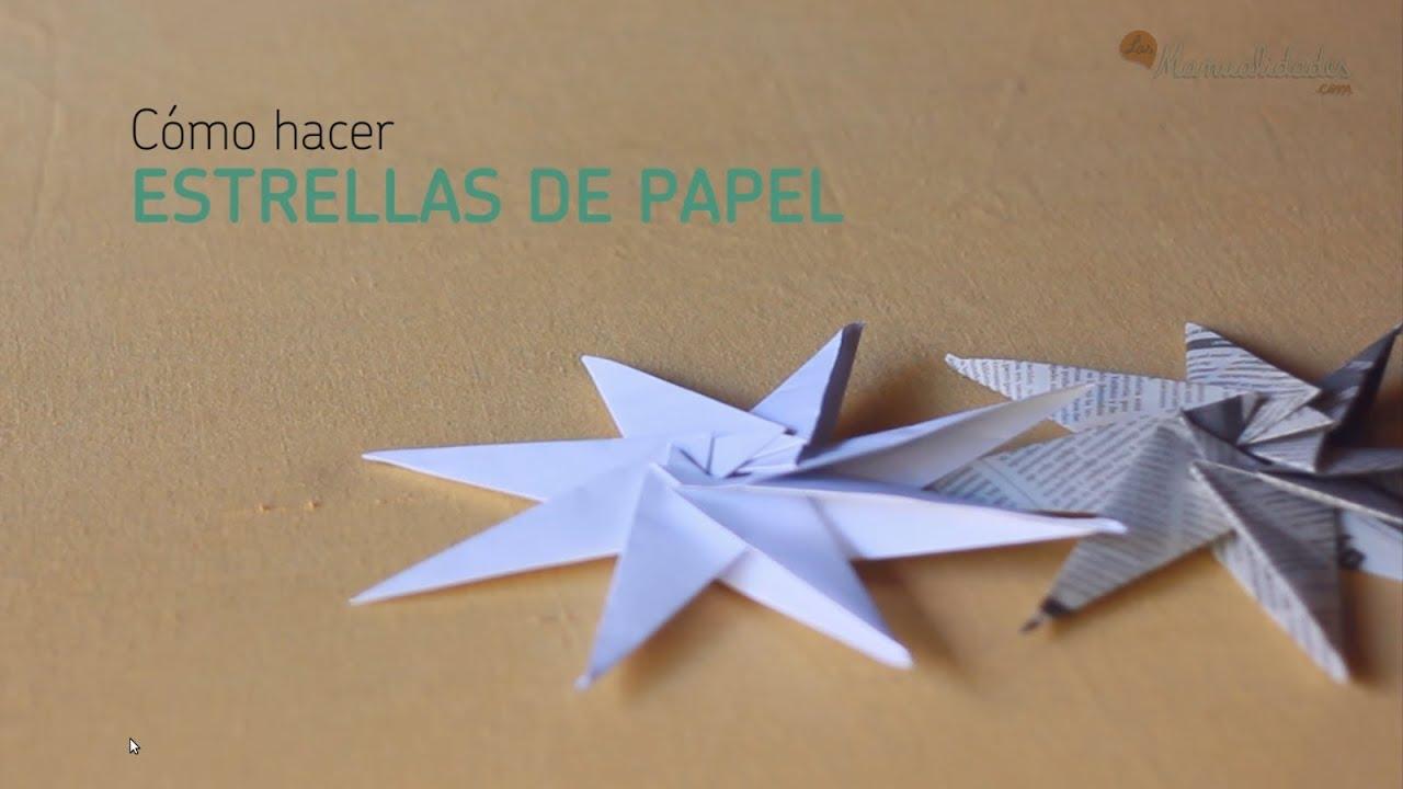 como hacer un ninja star de papel