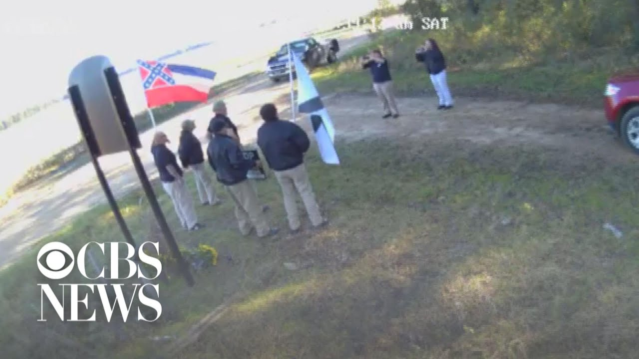 White supremacists seen filming in front of Emmett Till memorial