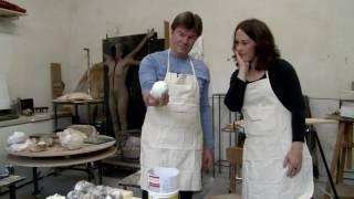 Vlaams minister van Cultuur Sven Gatz en Sofie Muller creëerden kunst voor het goede doel!