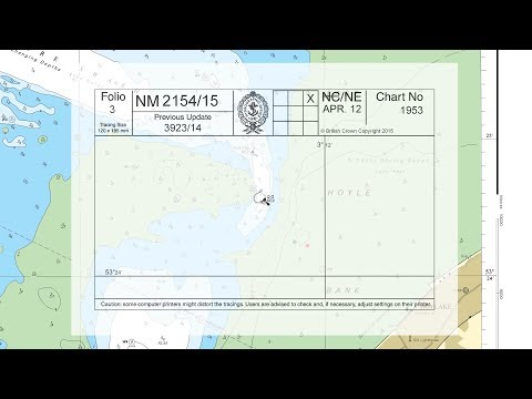 Moving a buoy on an ADMIRALTY Standard Nautical Chart