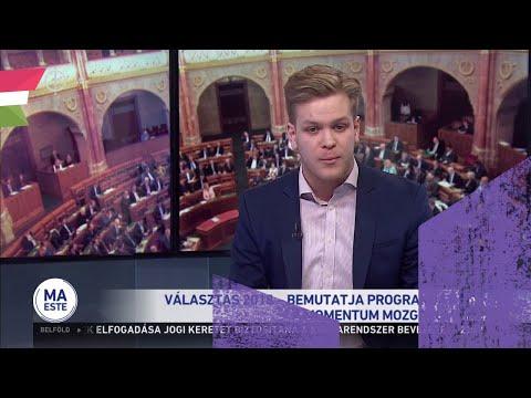 Hajnal Miklós, a Momentum szóvivője a közmédiában