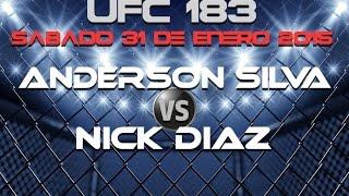 Anderson Silva vs Nick Diaz   Pronóstico Deportivo   UFC 183