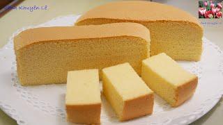 BÁNH BÔNG LAN BƠ - Cách làm Bánh Bông Lan Xốp mềm mịn - Taiwanese Castella Cake by Vanh Khuyen