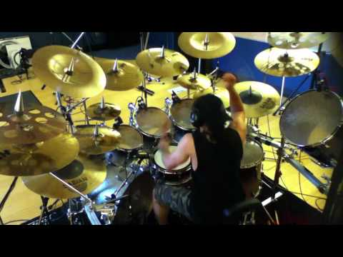 Recording drum tracks for the Primal Fear song