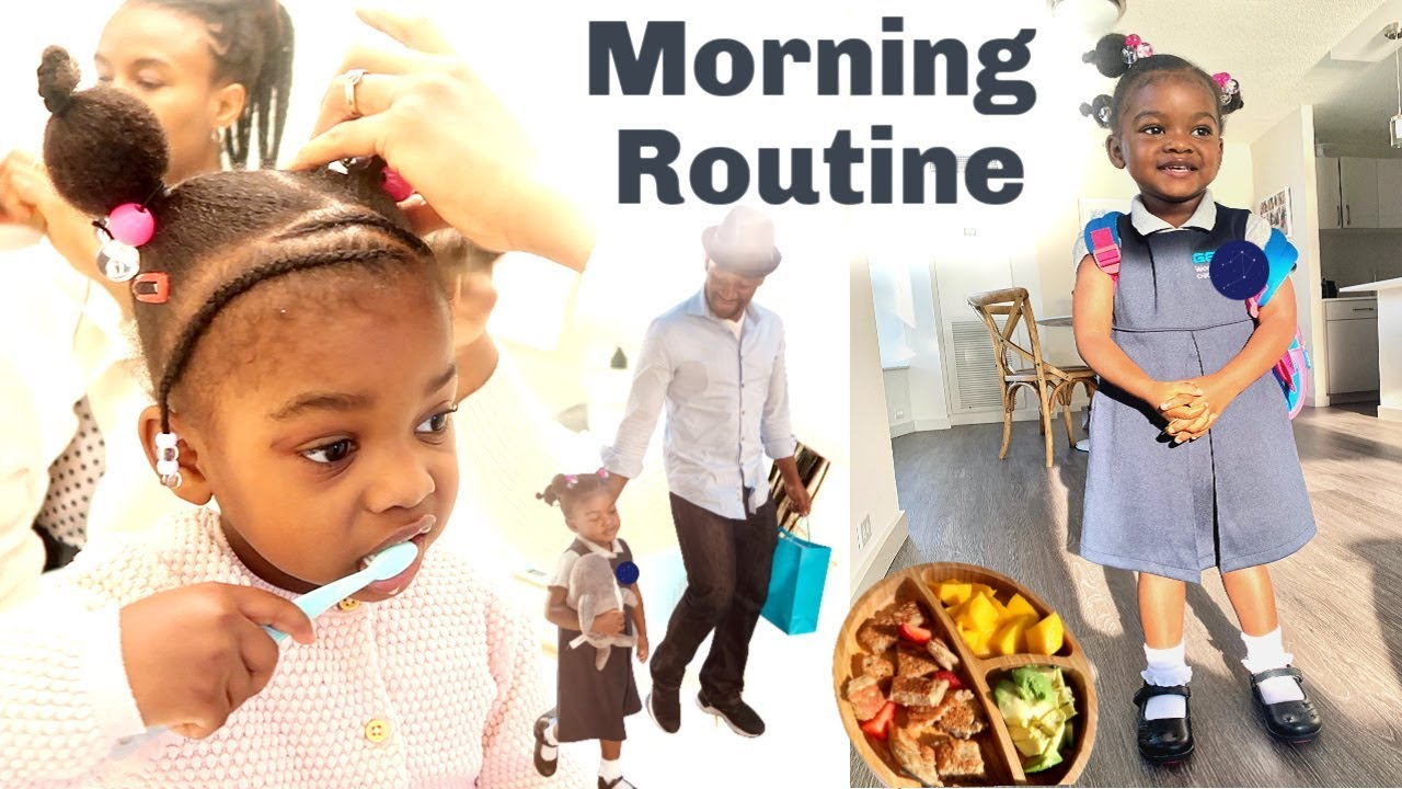 Our 3 Year Old School Morning Routine | Vegan Kid