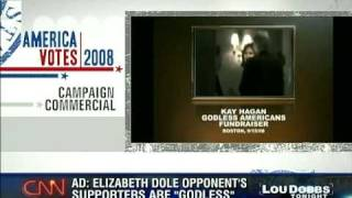 Lou Dobbs Laughs at Desperate False N. Carolina Sen Dole Attack Ad Claiming Godless Americans
