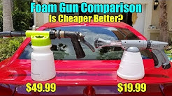 Chemical Guys Torq Foam Blaster VS Carrand Suds N Spray Foam Gun Comparison