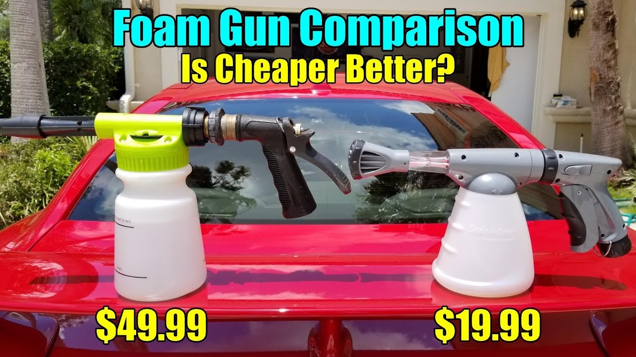 Chemical Guys Torq Foam Blaster Vs Carrand Suds N Spray Foam Gun Comparison Youtube