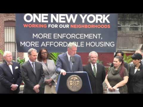 A.G. SCHNEIDERMAN AND MAYOR DE BLASIO ANNOUNCE $10 MILLION TO SPUR NEW AFFORDABLE HOUSING