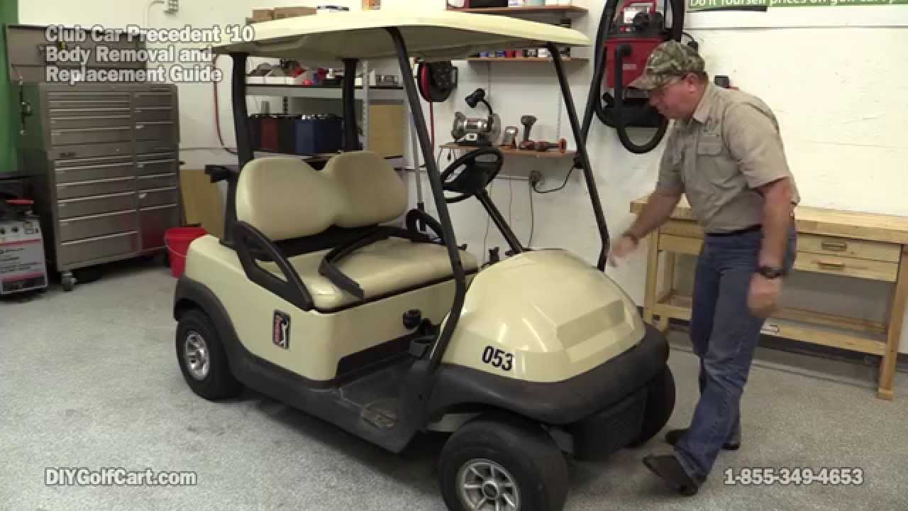 2016 Club Car Precedent Wiring Diagram 240 Volt Relay How To Remove Body On Golf Cart Part 1 Youtube