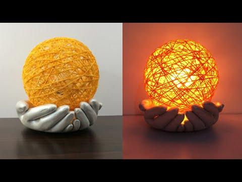 amazing-table-lamb-|-cement-pot-light-|-night-lamb-ideas-|-cement-hand-light-|-best-home-decor-ideas