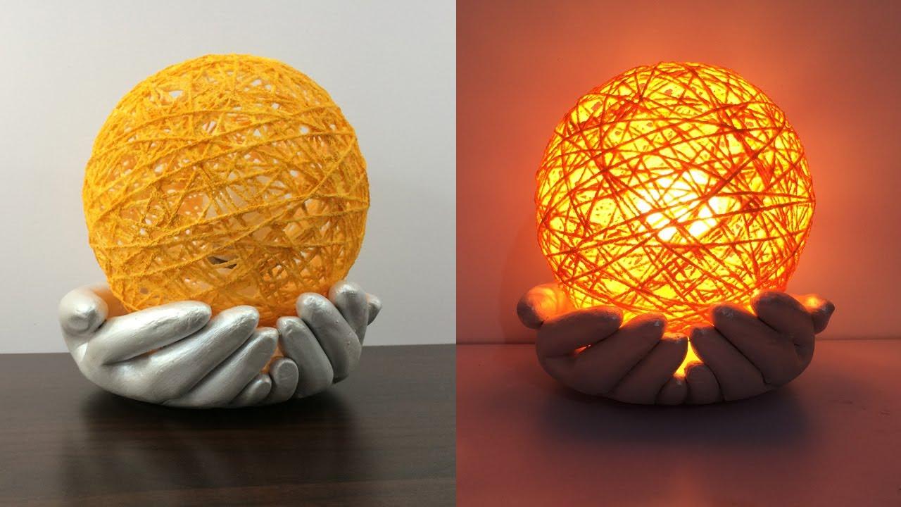 Amazing Table Lamb | Cement Pot Light | Night Lamb Ideas | Cement Hand Light | Best Home Decor Ideas