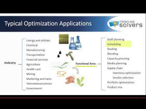 Learn How You Can Gain a Payoff from Optimization by Using Solver Advanced Optimization Tools