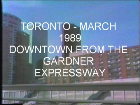 Toronto - March 1989 Downtown from the Gardiner Expressway
