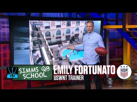 Chris Simms QB School: USWNT's Emily Fortunato | Chris Simms Unbuttoned | NBC Sports