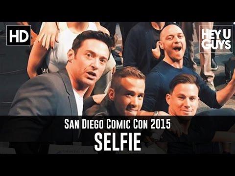 Comic Con Selfie - Stan Lee, Channing Tatum, Jennifer Lawrence, Hugh Jackman