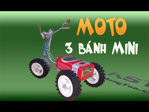 Hướng dẫn  tự chế moto mini 3 bánh nhìn cực ngầu