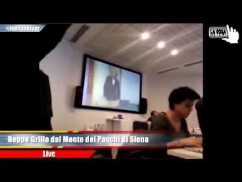 Beppe Grillo all'assemblea del Monte dei Paschi di Siena