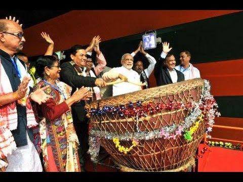 PM Modi in a Public Meeting in Moran, Assam