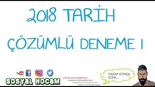 2018 KPSS Genel Kültür Tarih Denemesi 1