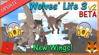 Roblox - Wolves' Life 3 v2 BETA - New Wings! #8 - HD
