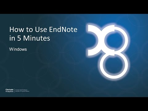 How To Use EndNote In 5 Minutes: Windows