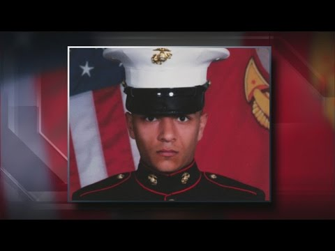Fallen Marine receives hero's welcome at General Mitchell International Airport