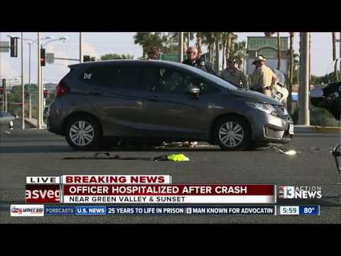 Henderson police motorcycle officer struck by vehicle