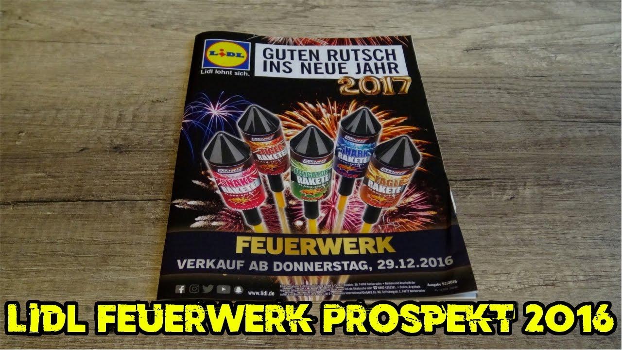 Lidl Feuerwerk Prospekt 20162017 Goldrausch Raketen Silvester2k