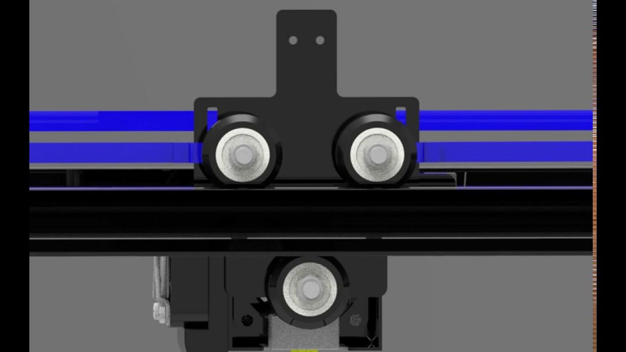 Tronxy X5S timing belt installation