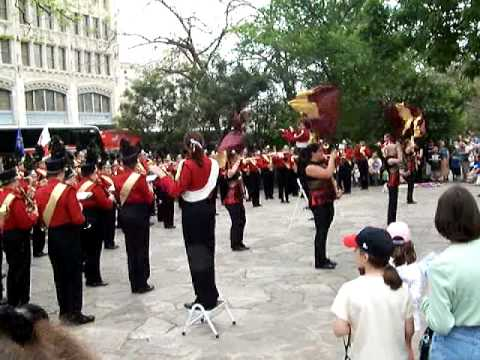 Morris Illinois high school band visit to the Alamo