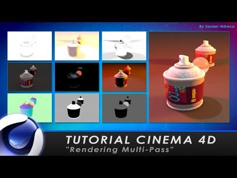 "TUTORIAL CINEMA 4D ""Rendering Multi-Pass"