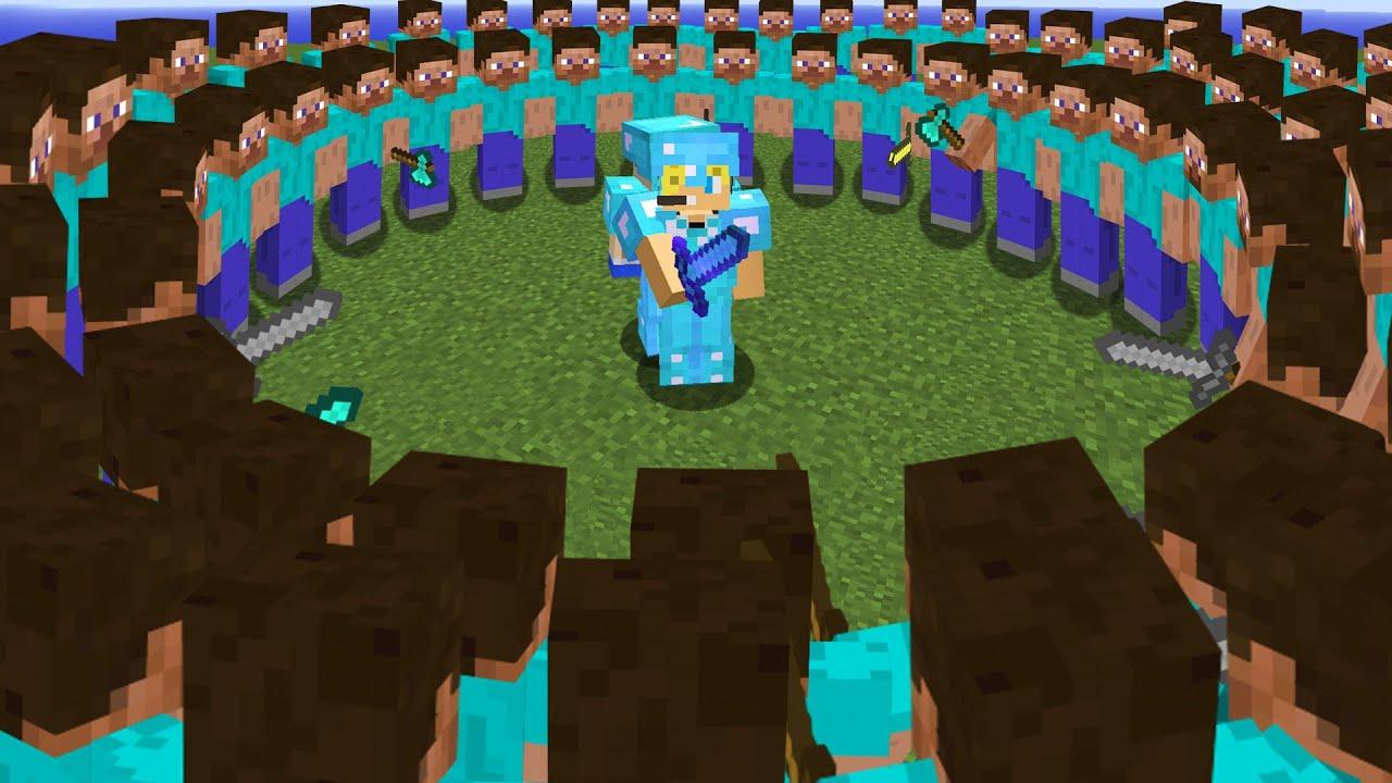 minecraft AMA 150 kişi beni ÖLDÜRMEYE çalışıyor!!