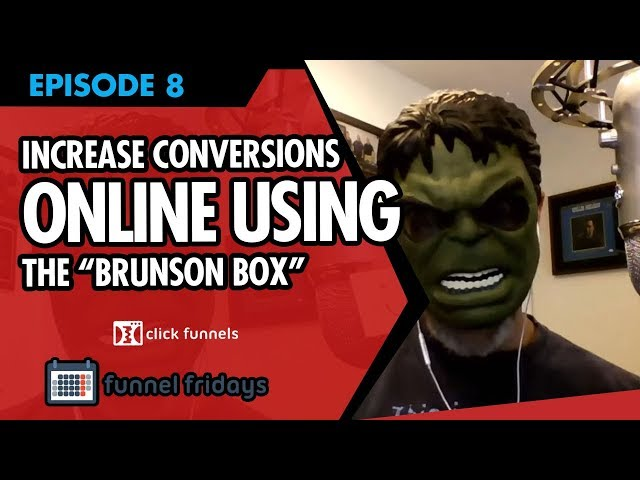 """How to Increase Conversions Online Using The """"Brunson Box"""""""