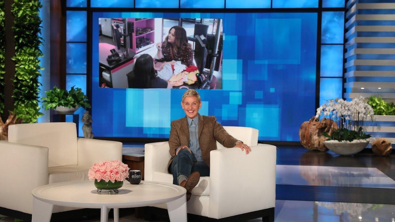 Ellen in Melissa McCarthy's Ear