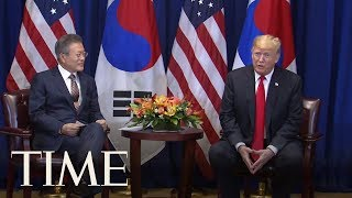 Video Donald Trump Calls Leader Of North Korea 'Terrific' While Meeting With South Korean President | TIME download MP3, 3GP, MP4, WEBM, AVI, FLV September 2018