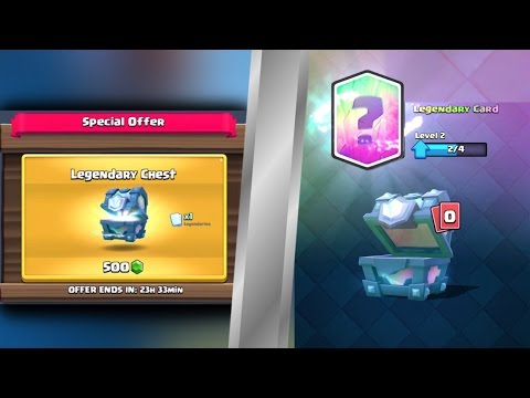 ANOTHER LEGENDARY CHEST!!! Clash Royale Legendary Chest Open