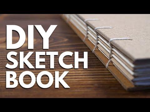 DIY SKETCHBOOK // Making a Sketchbook & Drawing in it