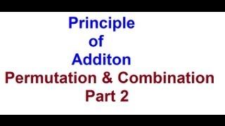 Fundamental Principle of Counting (Addition)