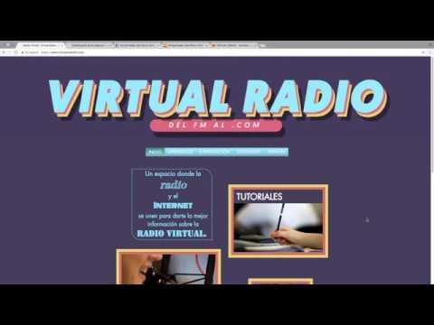 Virtual radio pantalla