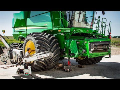 Minnesota Farmer Puts MASSIVE Flotation Tires on Combine