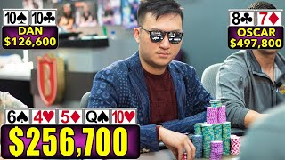 UNBELIEVABLE $257,000 High Stakes Poker Hand ♠ Live at the Bike!