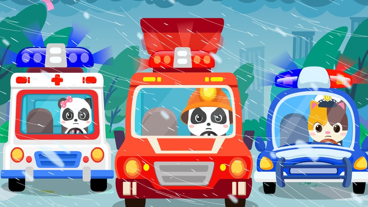 Baby Rescue Squad - Ambulance, Police Car, Fire Truck 🚑🚒🚓 | Nursery Rhymes | Kids Songs | BabyBus