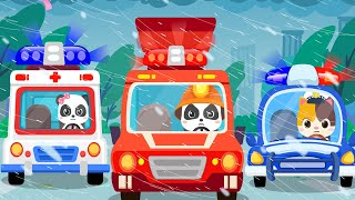 Baby Rescue Squad  Ambulance, Police Car, Fire Truck  | Nursery Rhymes | Kids Songs | BabyBus