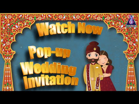 Beautiful pop-up wedding invitation video